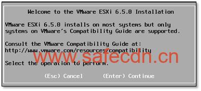 ESXI 6.5 从载到安装