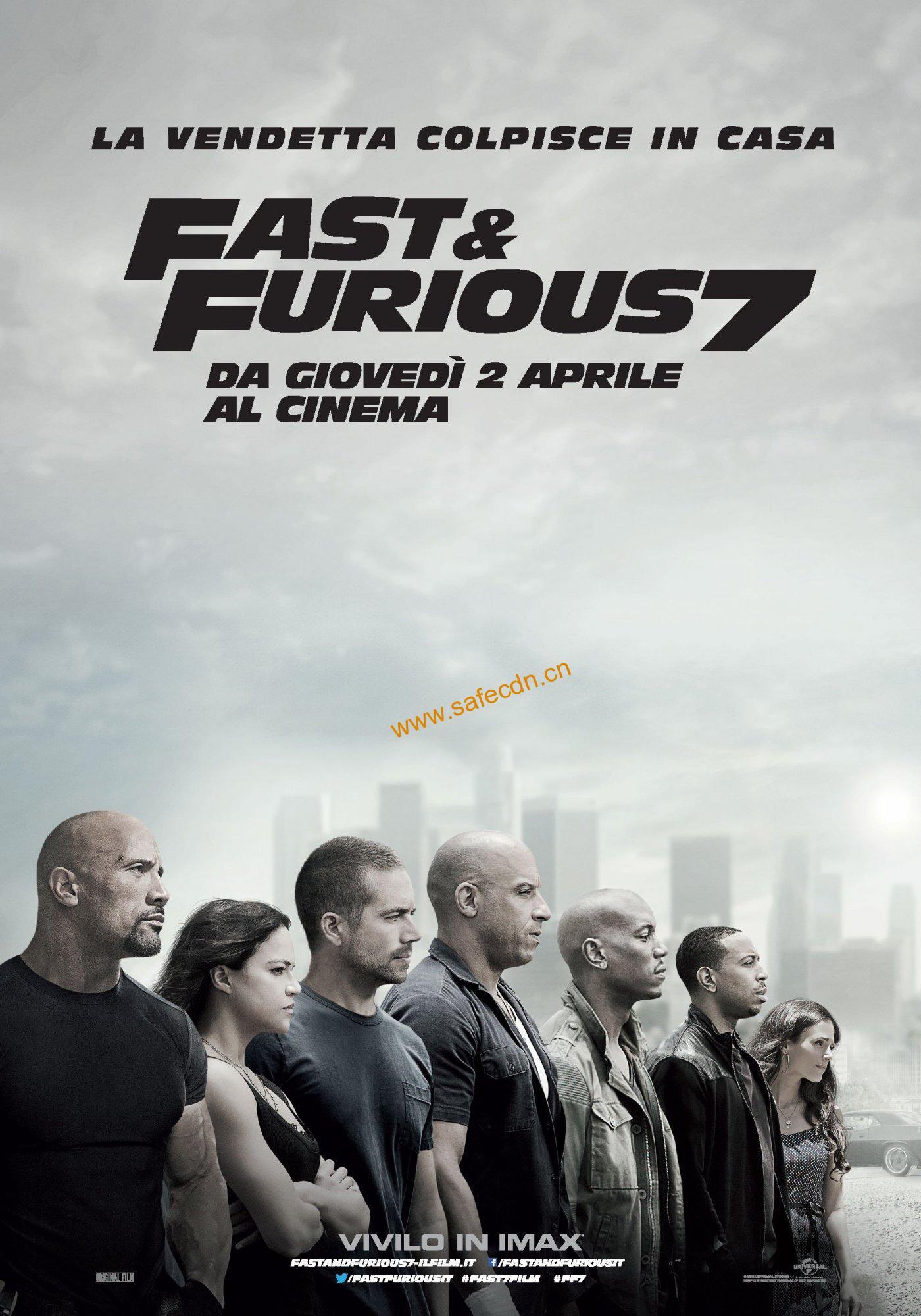速度与激情7 蓝光原盘+高清MKV版/ 狂野时速7(港) / 玩命关头7(台) Fast & Furious 7 44.43G